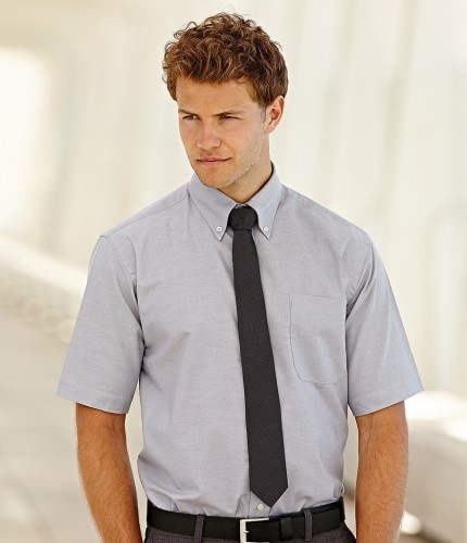 40e06028 Fruit of the Loom Short Sleeve Oxford Shirt | Embroidered & Printed ...