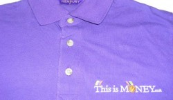 personalised polo shirt, Logo Embroidery on Tshirt in London