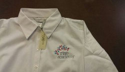 Logo Embroidery on Tshirt in London, shirt embroidery