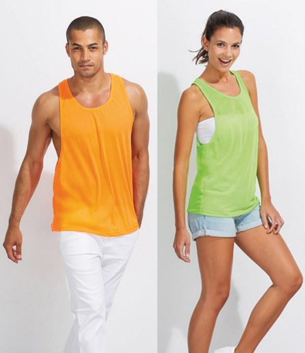 SOL/Â/´S Unisex Tank Top Jamaica Neon Orange XL