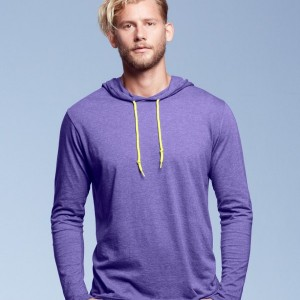 Anvil Fashion Basic Long Sleeve Hooded T-Shirt,Positive Branding