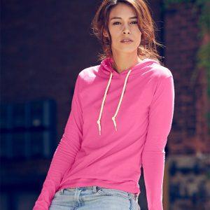 Anvil Ladies Fashion Basic Long Sleeve Hooded T-Shirt,Positive Branding