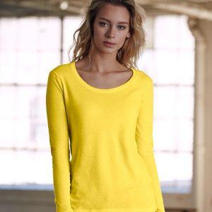 Anvil Ladies Featherweight Long Sleeve Scoop Neck T-Shirt,Positive Branding