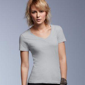 Anvil Ladies Featherweight V Neck T-Shirt,Positive Branding