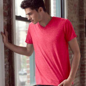 Anvil Tri-Blend V Neck T-Shirt,personalised polo shirt
