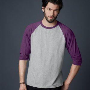 Anvil Tri-Blend 3/4 Sleeve Raglan T-Shirt,Positive Branding