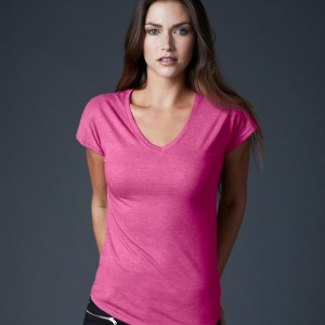 Anvil Ladies Tri-Blend V Neck T-Shirt,custom workwear