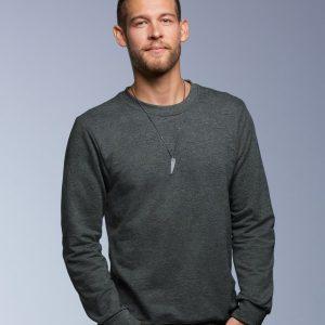 Anvil French Terry Drop Shoulder Sweatshirt,Positive Branding