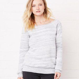 Bella Triblend Sponge Fleece Wideneck Sweatshirt,Positive Branding