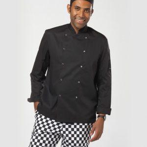 Dennys Long Sleeve Press Stud Chef's Jacket,branded staff uniforms in London