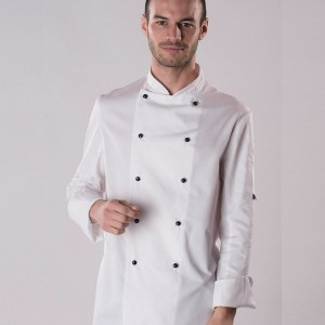 Dennys Long Sleeve Removable Stud Chef's Jacket,branded staff uniforms in London