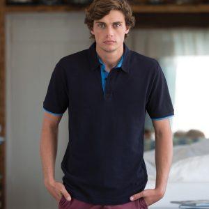 Front Row Contrast Cotton Pique Polo Shirt,Positive Branding