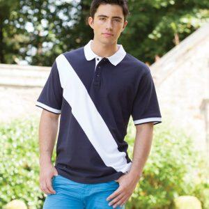 Front Row Diagonal Stripe House Cotton Pique Polo Shirt,personalised polo shirt