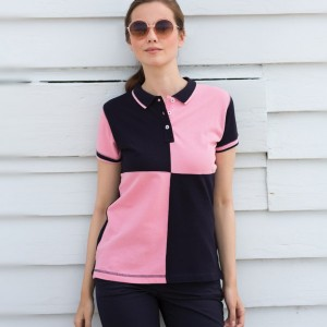 Front Row Ladies Quartered House Cotton Pique Polo Shirt,personalised polo shirt