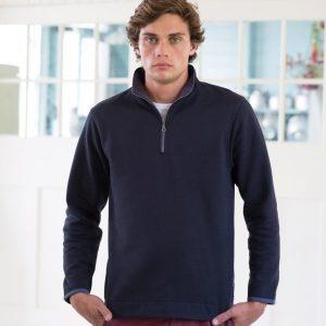 Front Row Collection Super Soft Zip Neck Sweatshirt,Positive Branding