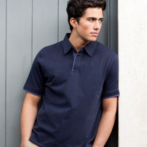 Front Row Collection Brushed Cotton Jersey Polo Shirt,personalised polo shirt