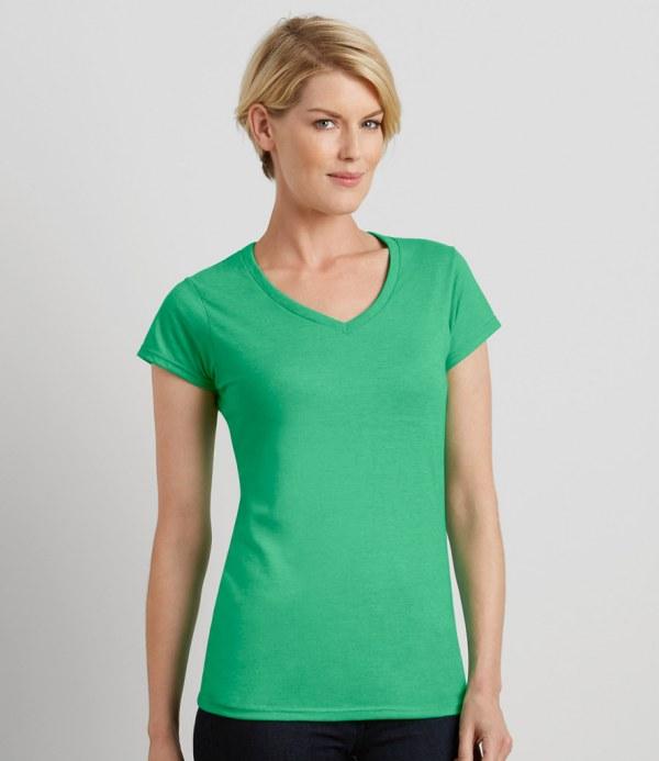 e62676aea Gildan SoftStyle® Ladies V Neck T-Shirt | Embroidered & Printed ...