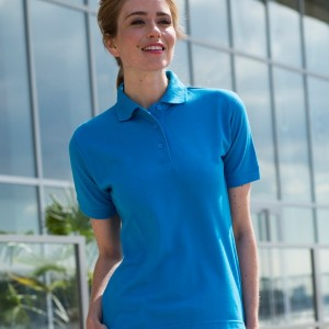 Henbury Ladies Poly/Cotton Pique Polo Shirt,Positive Branding