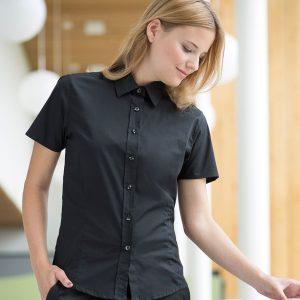 Henbury Ladies Short Sleeve Stretch Shirt,promotional work shirts in London