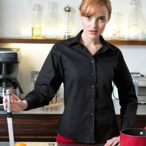 Henbury Ladies Long Sleeve Stretch Shirt,promotional work shirts in London