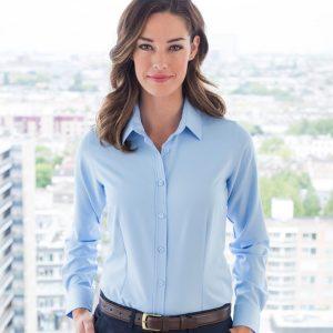 Henbury Ladies Anti-bac Wicking Long Sleeve Shirt,promotional work shirts in London