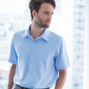 Henbury Short Sleeve Anti-bac Wicking Shirt,promotional work shirts in London