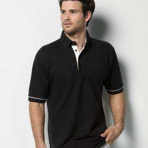 Kustom Kit Button Down Collar Contrast Pique Polo Shirt,Positive Branding
