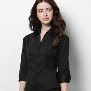 Kustom Kit Bargear® Ladies 3/4 Sleeve Shirt,Positive Branding