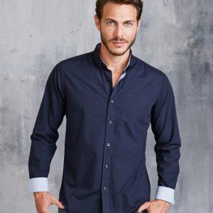 Kariban Long Sleeve Washed Poplin Shirt,Positive Branding