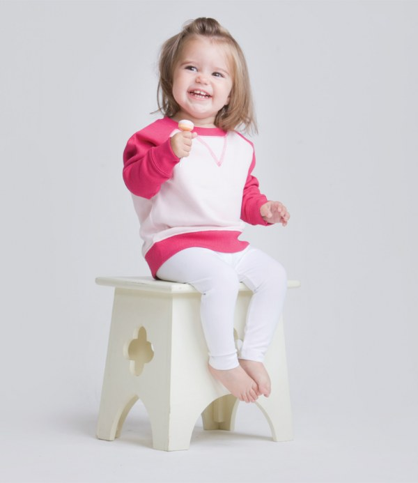 f0779d01f Larkwood Baby/Toddler Contrast Sweatshirt | Embroidered & Printed ...