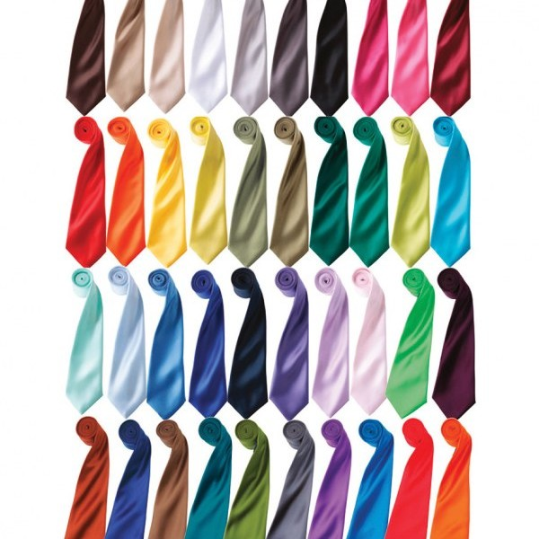 Premier 'Colours' Satin Tie,Embroidered clothing in London