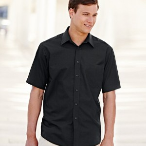 Fruit of the Loom Short Sleeve Poplin Shirt,corporate clothing and workwear in London