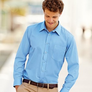 Fruit of the Loom Long Sleeve Poplin Shirt,corporate clothing and workwear in London