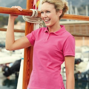 Fruit of the Loom Lady Fit Cotton Pique Polo Shirt,custom workwear