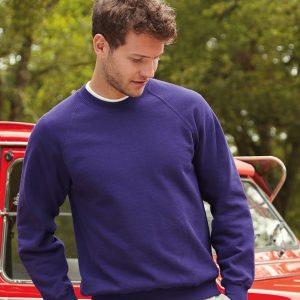 Fruit of the Loom Classic Raglan Sweatshirt, custom workwear
