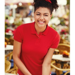 Fruit of the Loom Lady Fit Pique Polo Shirt,custom workwear