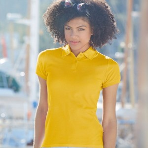 Fruit of the Loom Lady-Fit Premium Cotton Pique Polo Shirt,custom workwear