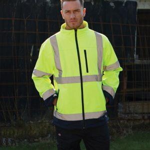 Dickies Hi-Vis Two-Tone Soft Shell Jacket,Positive Branding